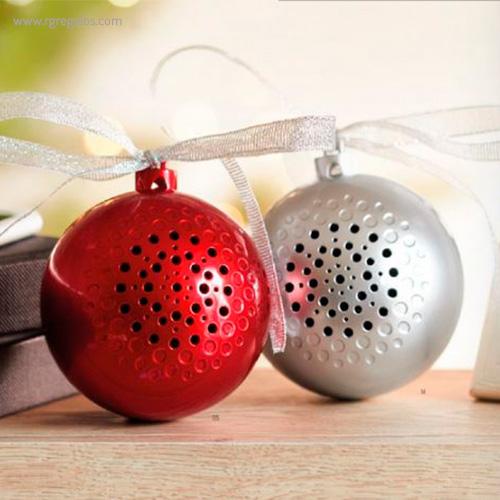 Bola de navidad altavoz colores - RG regalos publicitarios