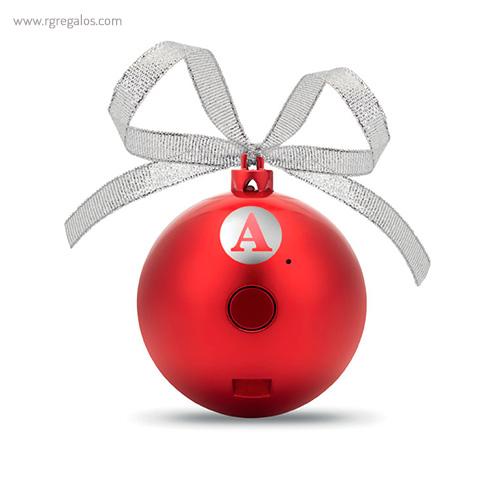 Bola de navidad altavoz con logo - RG regalos publicitarios