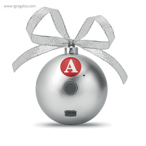 Bola de navidad altavoz logo - RG regalos publicitarios