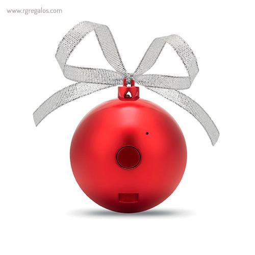 Bola de navidad altavoz parte trasera - RG regalos publicitarios