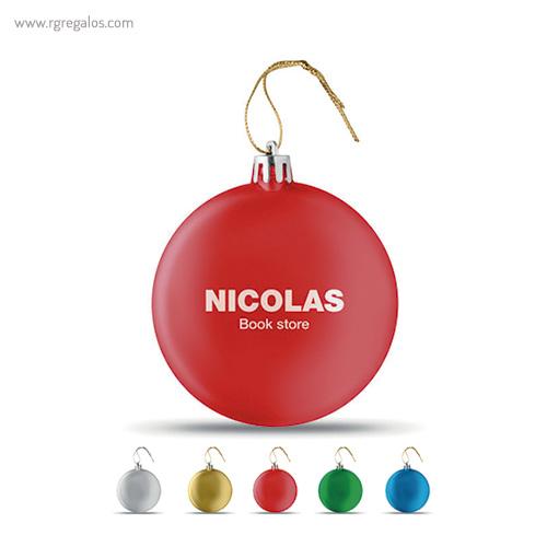 Bola de navidad en PP - RG regalos publicitarios