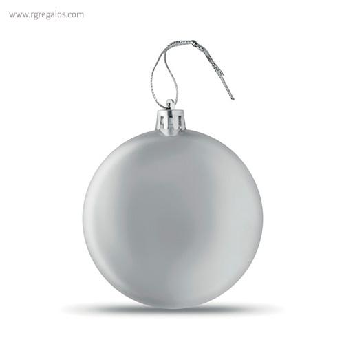 Bola de navidad en PP plata - RG regalos publicitarios