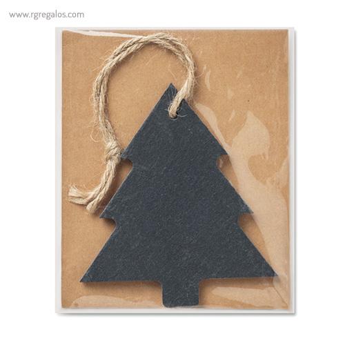 Colgante navidad de pizarra árbol presentación - RG regalos publicitarios