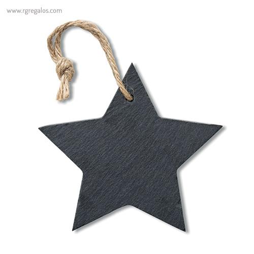 Colgante de pizarra estrella - RG regalos publicitarios