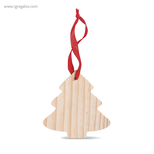 Colgante navidad de madera árbol navidad - RG regalos publicitarios