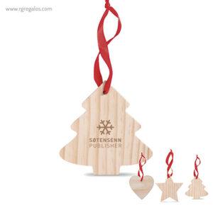 Colgante navidad de madera - RG regalos publicitarios