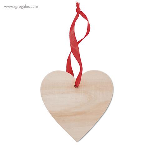 Colgante navidad de madera corazón - RG regalos publicitarios