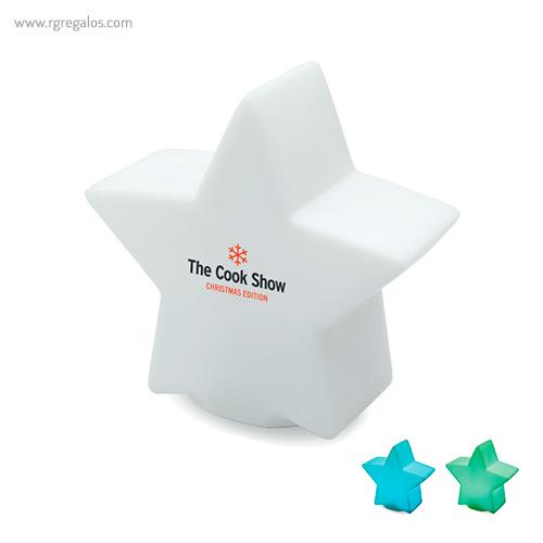 Estrella con luz colores - RG regalos publicitarios