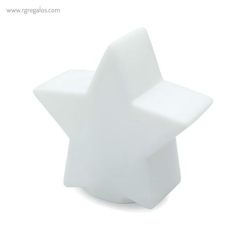 Estrella con luz colores blanco - RG regalos publicitarios