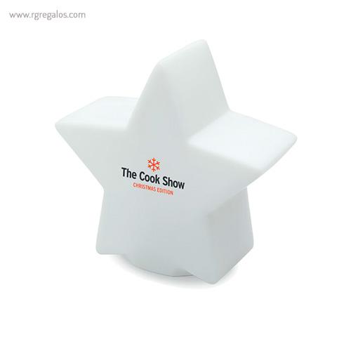 Estrella con luz colores impreso - RG regalos publicitarios
