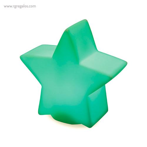 Estrella con luz colores verde - RG regalos publicitarios
