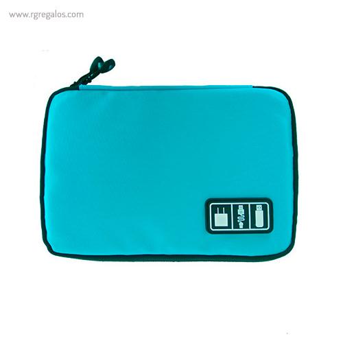 Estuche organizador tecnológico azul - RG regalos publicitarios (2)
