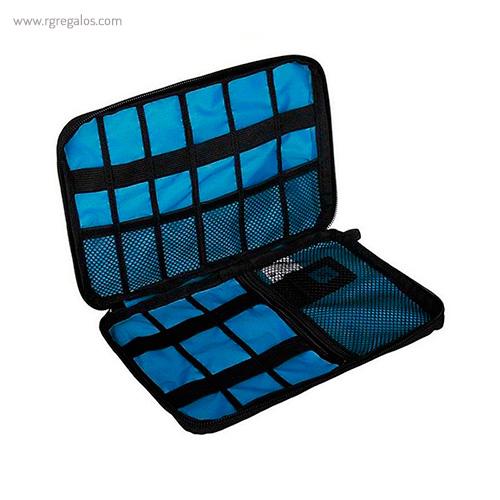 Estuche organizador tecnológico interior azul - RG regalos publicitarios
