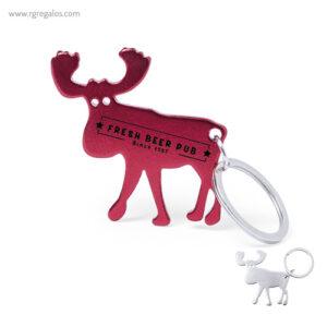 Llavero abridor reno rojo - RG regalos publicitarios
