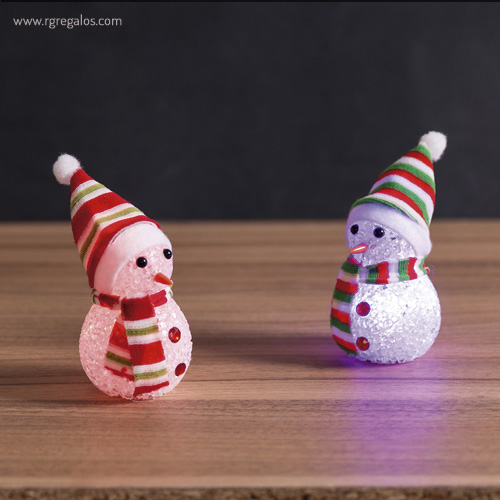 Muñeco de nieve con luz - RG regalos