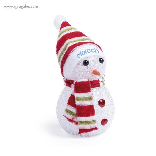 Muñeco de nieve con luz modelo 1 - RG regalos publicitarios
