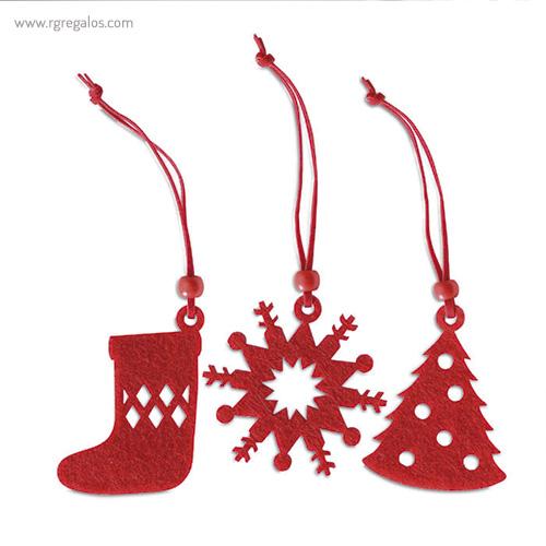 Set 12 adornos navideños formas - RG regalos publicitarios