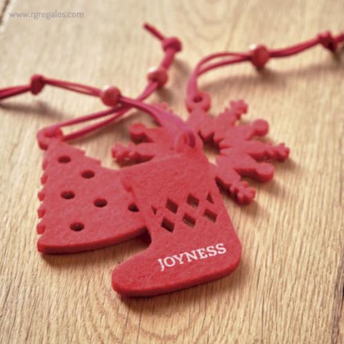 Set 12 adornos navideños logo impreso - RG regalos publicitarios