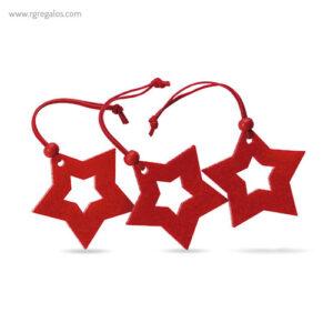 Set 3 adornos navideños estrellas - RG regalos publicitarios