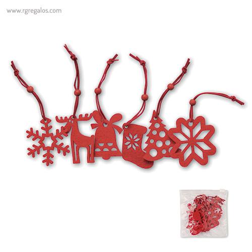 Set 6 adornos navideños - RG regalos publicitarios