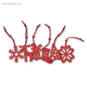 Set 6 adornos navideños formas - RG regalos publicitarios