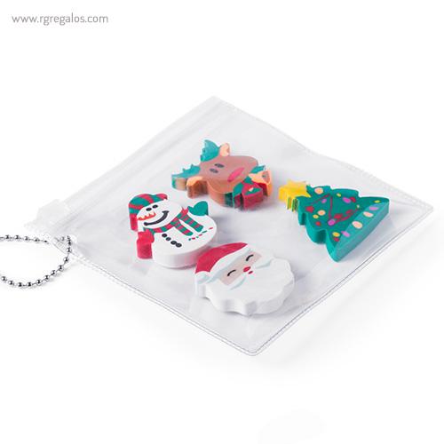 Set gomas borrar navidad bolsa - RG regalos publicitarios