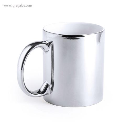 Taza cerámica brillante plateada - RG regalos publicitarios