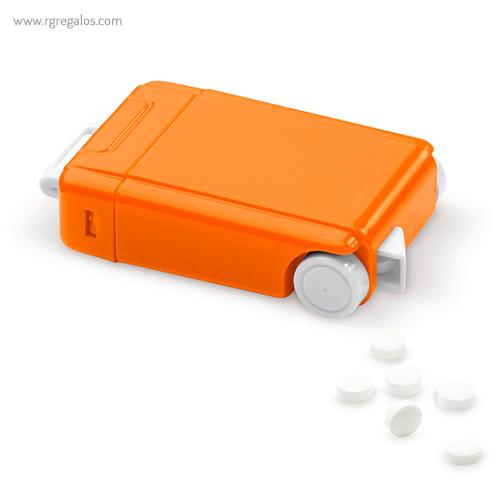 Dispensador caramelos trolley naranja - RG regalos publicitarios