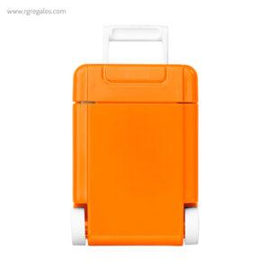 Dispensador caramelos trolley naranja frontal - RG regalos publicitarios
