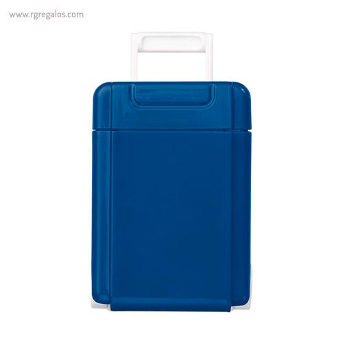 Dispensador caramelos trolley azul frontal - RG regalos publicitarios