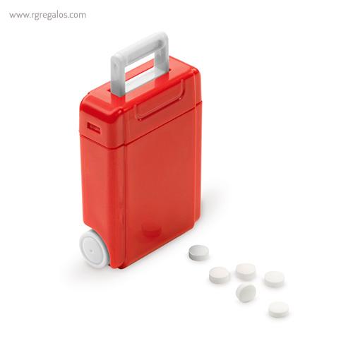 Dispensador caramelos trolley rojo lateral - RG regalos publicitarios