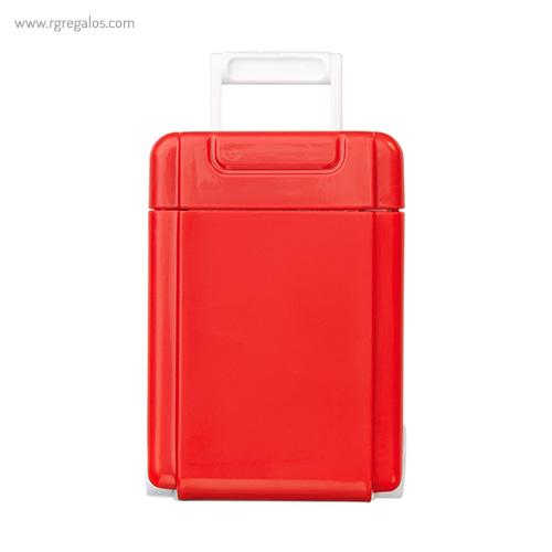 Dispensador caramelos trolley rojo frontal - RG regalos publicitarios