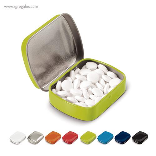 Caja cuadrada de caramelos - RG regalos publicitarios