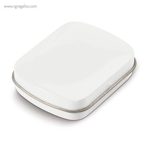 Caja cuadrada de caramelos blanca cerrada - RG regalos publicitarios