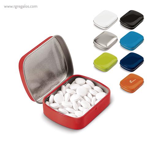 Caja cuadrada de caramelos colores - RG regalos publicitarios