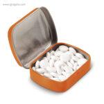 Caja cuadrada de caramelos naranja - RG regalos publicitarios