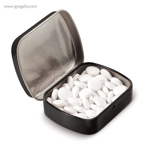 Caja cuadrada de caramelos negra - RG regalos publicitarios