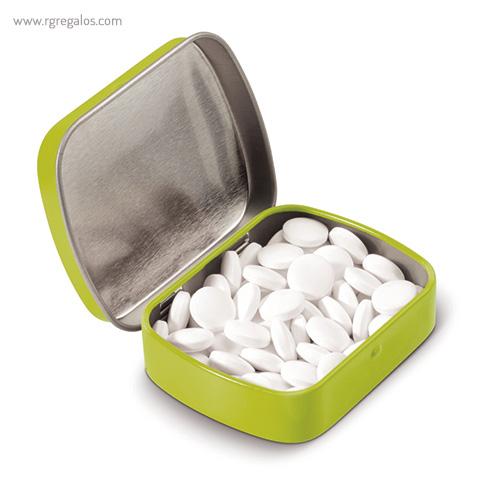 Caja cuadrada de caramelos verde - RG regalos publicitarios