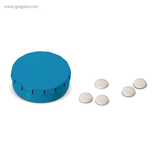 Caja redonda de caramelos click azul - RG regalos publicitrios