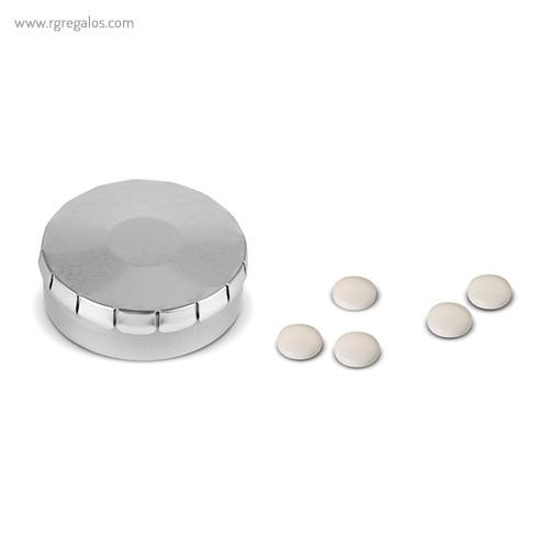 Caja redonda de caramelos click gris - RG regalos publicitrios