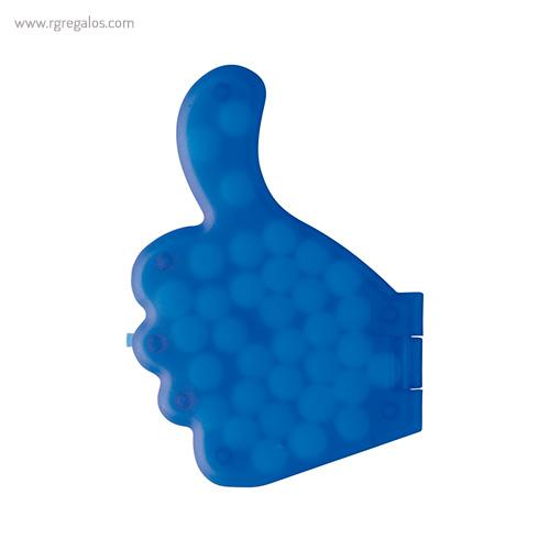 Dispensador de caramelos pulgar azul - RG regalos publicitarios