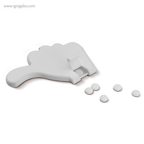 Dispensador de caramelos pulgar blanco caramelos - RG regalos publicitarios