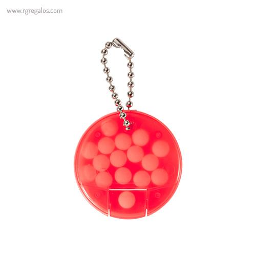 Llavero con caramelos de menta rojo - RG regalos publicitarios