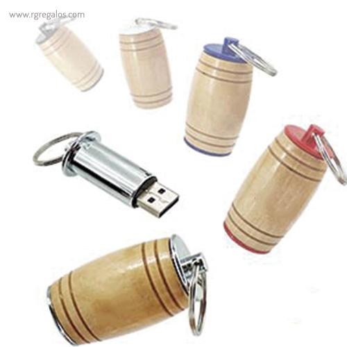Memoria USB barril de vino colores - RG regalos publicitarios