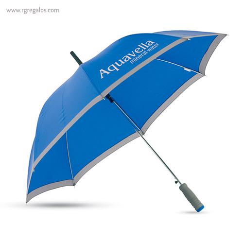 Paraguas automático con funda 23 azul logotipo - RG regalos publicitarios