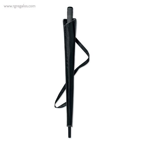 Paraguas automático con funda 23 negro funda - RG regalos publicitarios