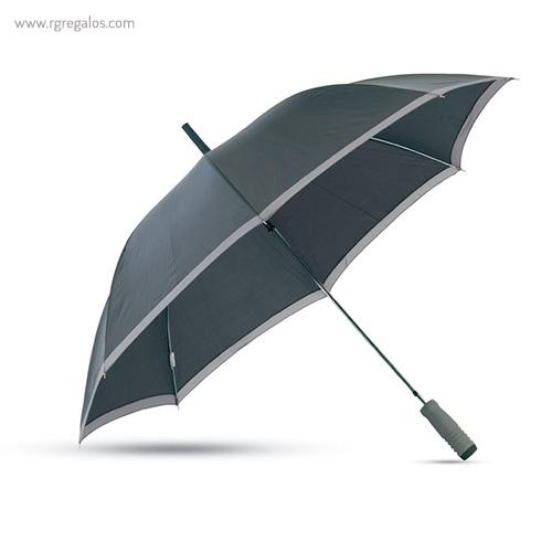 Paraguas automático con funda 23 negro perfil - RG regalos publicitarios