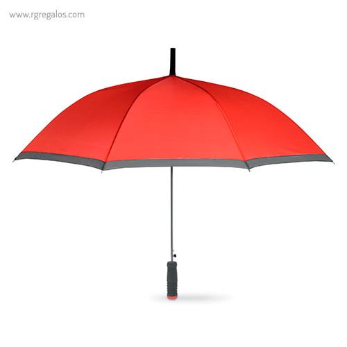 Paraguas automático con funda 23 rojo - RG regalos publicitarios