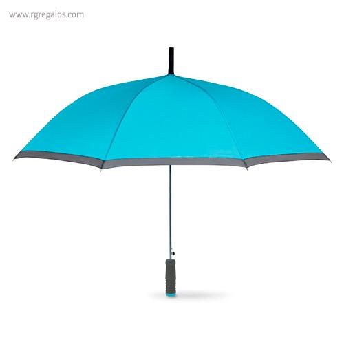 Paraguas automático con funda 23 turquesa - RG regalos publicitarios