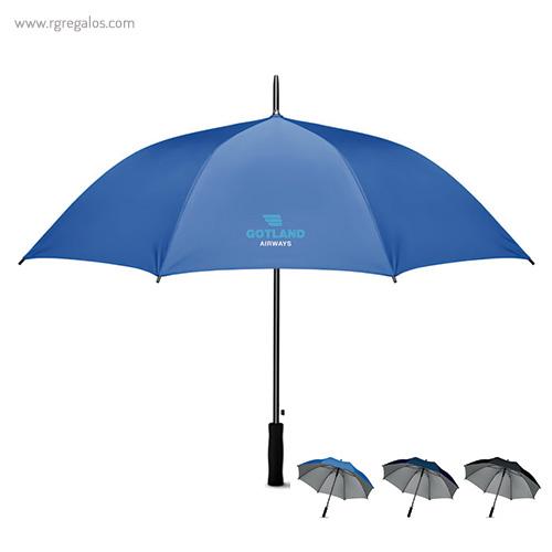 Paraguas automático interior plata - RG regalos publicitarios